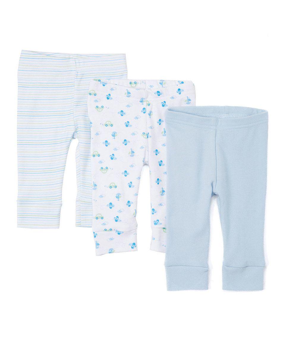 SpaSilk Blue Car Three-Piece Pants Set - Infant by SpaSilk #zulily #zulilyfinds
