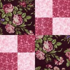 Marianne Giselle Burgundy Pink Black Rose Floral Quilt Fabric Kit ... : rose quilt fabric - Adamdwight.com