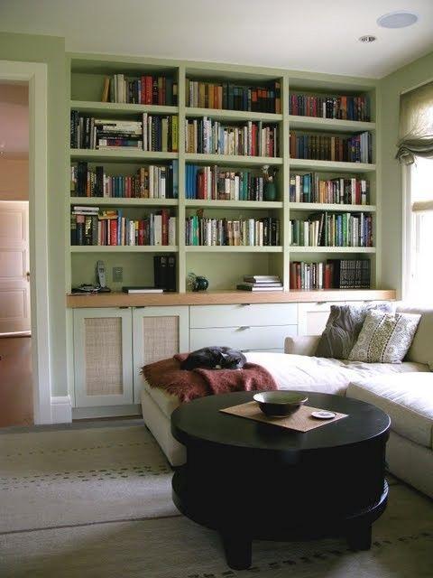 Built In Bookshelvescozy Room Set Aside For Reading Aka A Librarya Beauteous Bookshelves Living Room Set