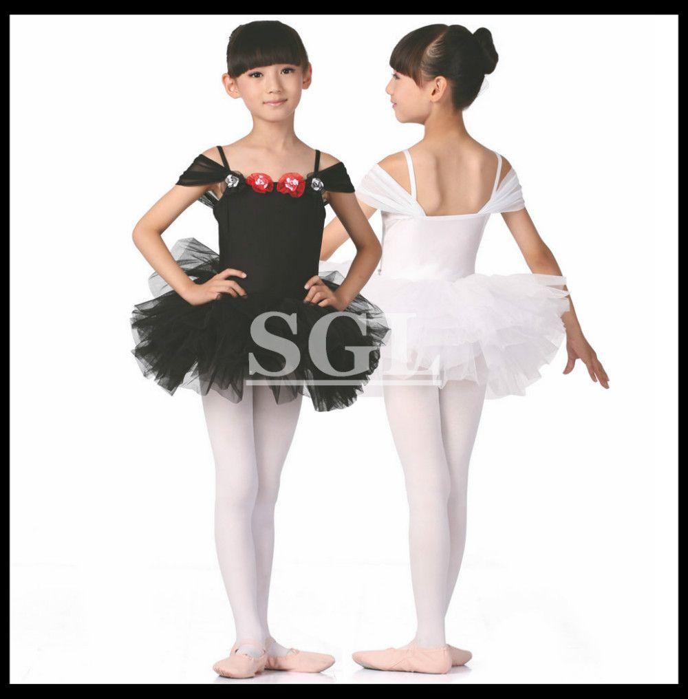 Pas cher ( 5 peças lote ) enfants Tutu robes blanc   noir   rose ... cda2833e5d8