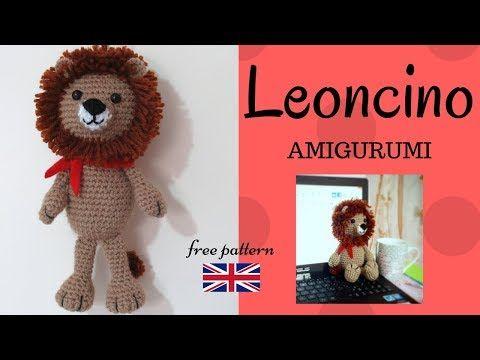 Amigurumi Lion Free Pattern : Leoncino amigurumi crochet a lion with english pattern
