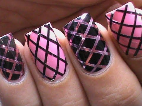 Striping tape nail art designs fishnet beginners easy how to nails striping tape nail art designs fishnet beginners easy how to nails art striping tape tutorial video prinsesfo Images