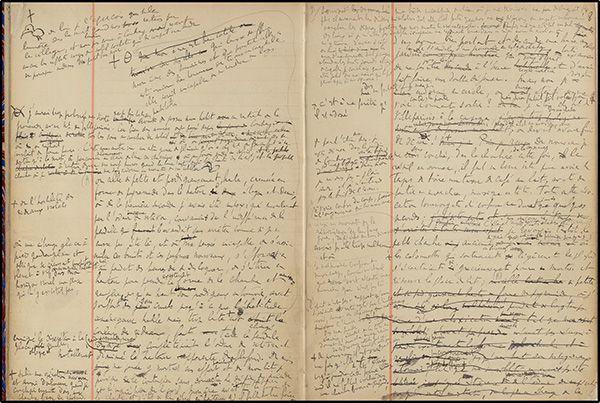 Marcel Proust. A la recherche du temps perdu. Les carnets de brouillon