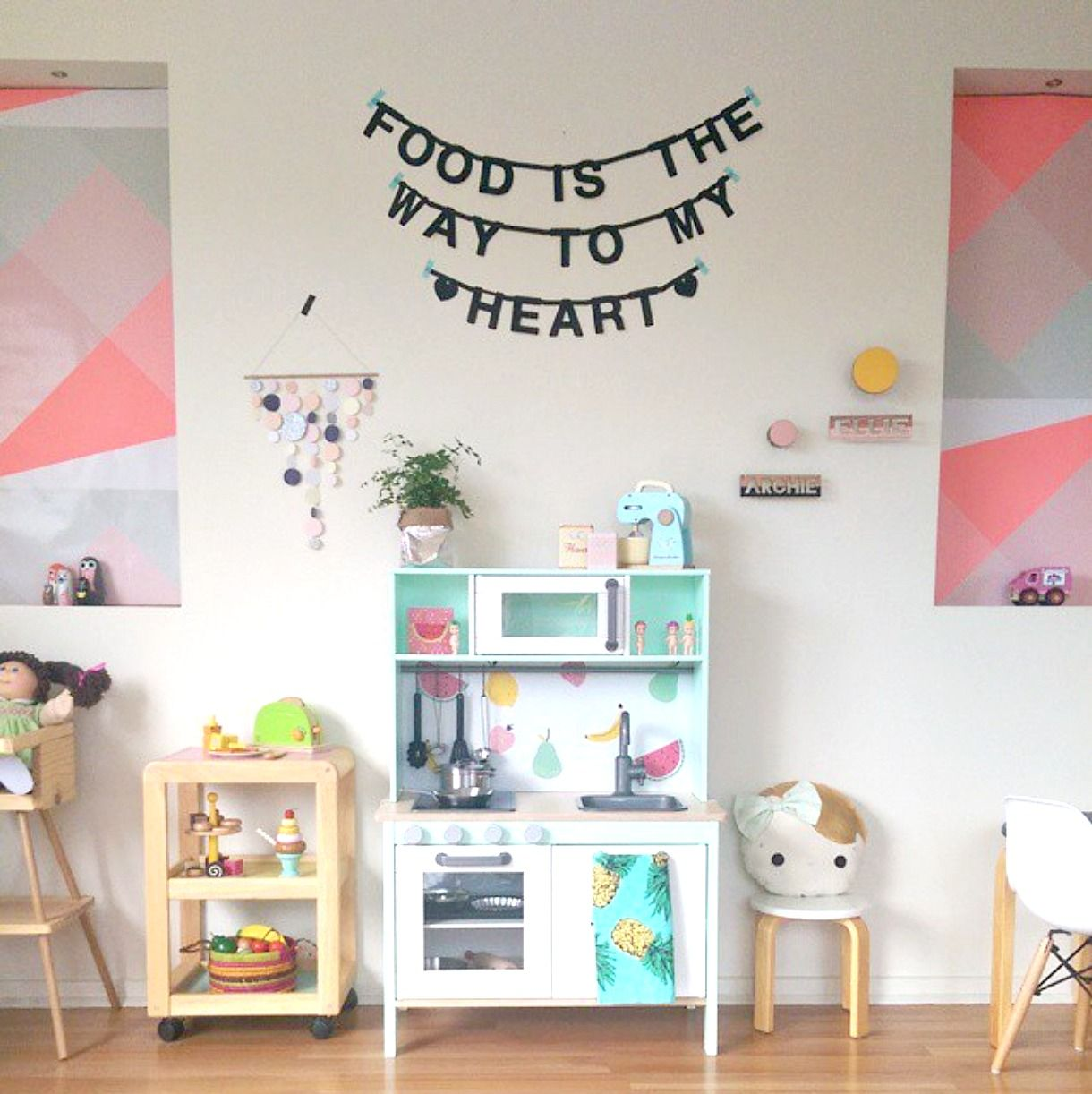 Ikea Duktig Play Kitchen Hacks Chalk Kids | Toddler! | Pinterest ...