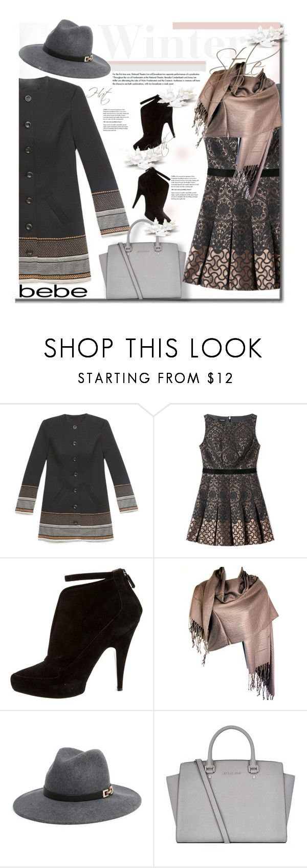 """Soirée de Luxe with bebe Holiday: Contest Entry"" by trendyyou ❤ liked on Polyvore featuring Bebe, Givenchy, MICHAEL Michael Kors, bebe, polyvorecontest, holidaystyle and holiday2015"