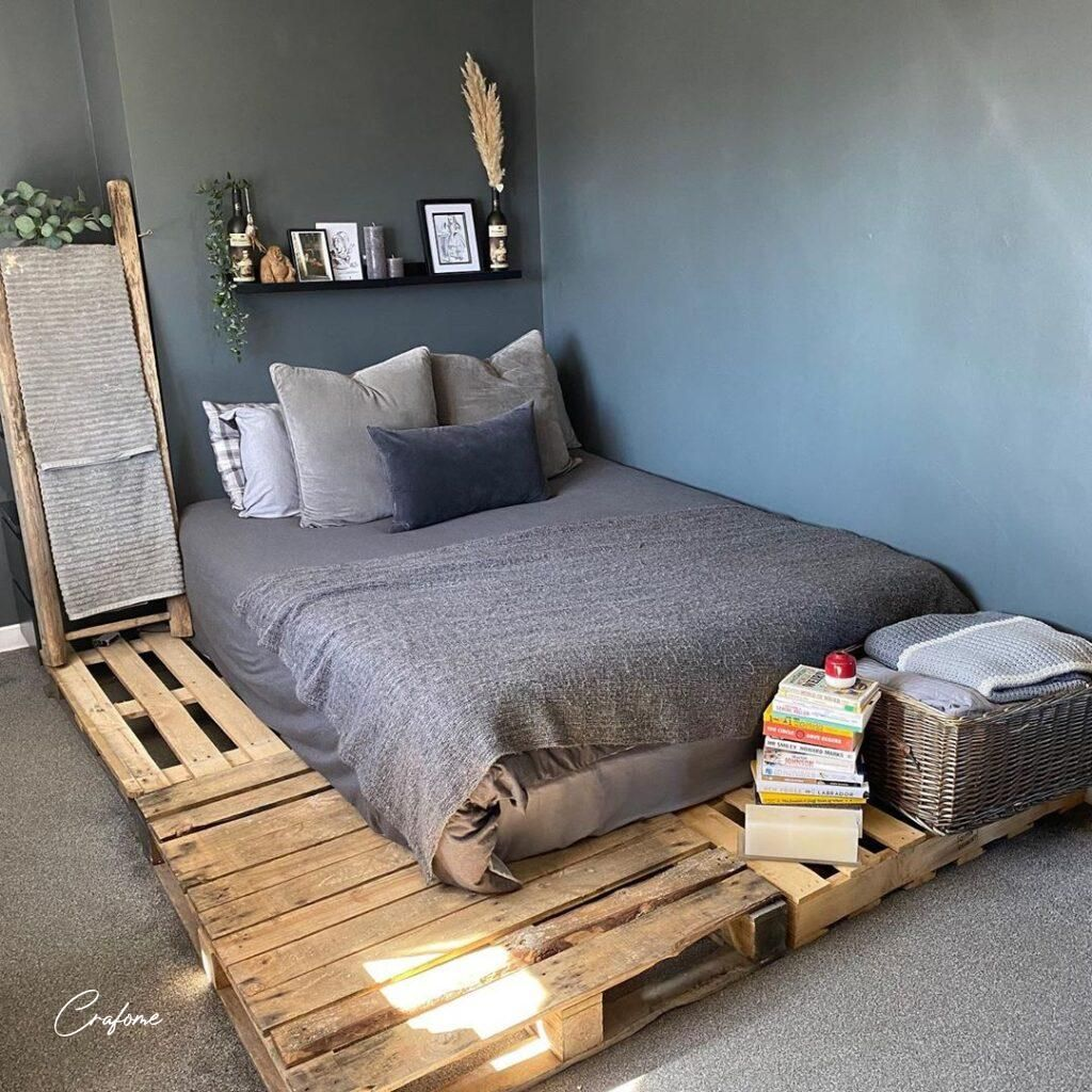 50+ adorable pallet bed ideas you will love - crafome #palletbed #palletbedframe #palletbedfr