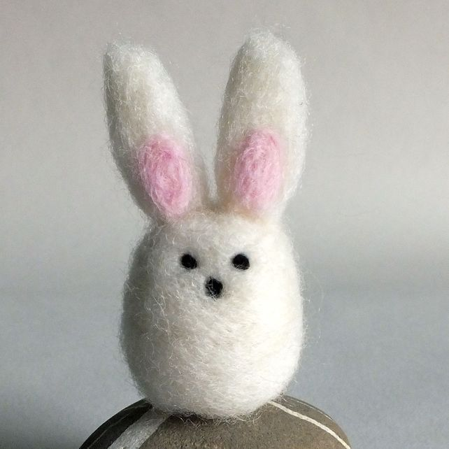 Felt Wool Easter Bunny Rabbit Needle felted £5.50