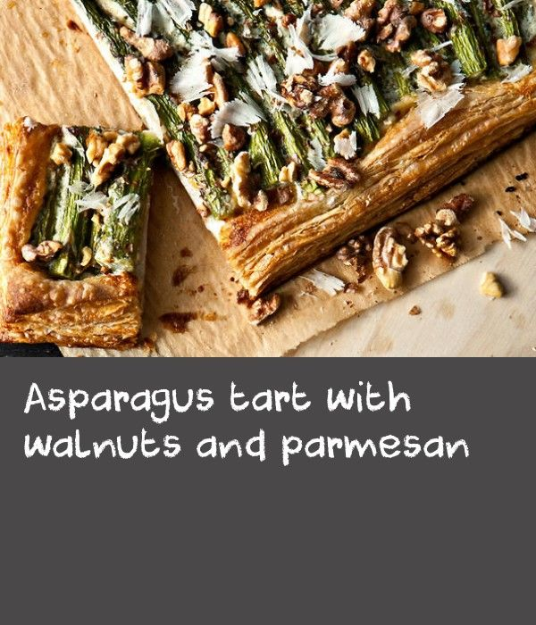 Asparagus tart with walnuts and parmesan | I blame Delancey for planting the seed that sprouted this tart. On one of our regular visits, I ordered a dish consisting of asparagus that was perfectly charred in their wood-burning oven, walnut cream, and slender shavings of parmesan.It was a rare moment in which I was cursing the fact that my children eat their vegetables; I wanted them to leave their asparagus for me. Anyway, with the addition of a simply dressed salad, this tart makes for a…