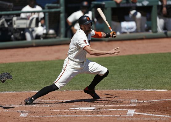 Hunter Pence singles in the first inning.
