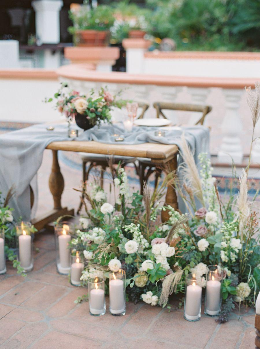La Tavola Fine Linen Rental Aurora Silver Table Runner