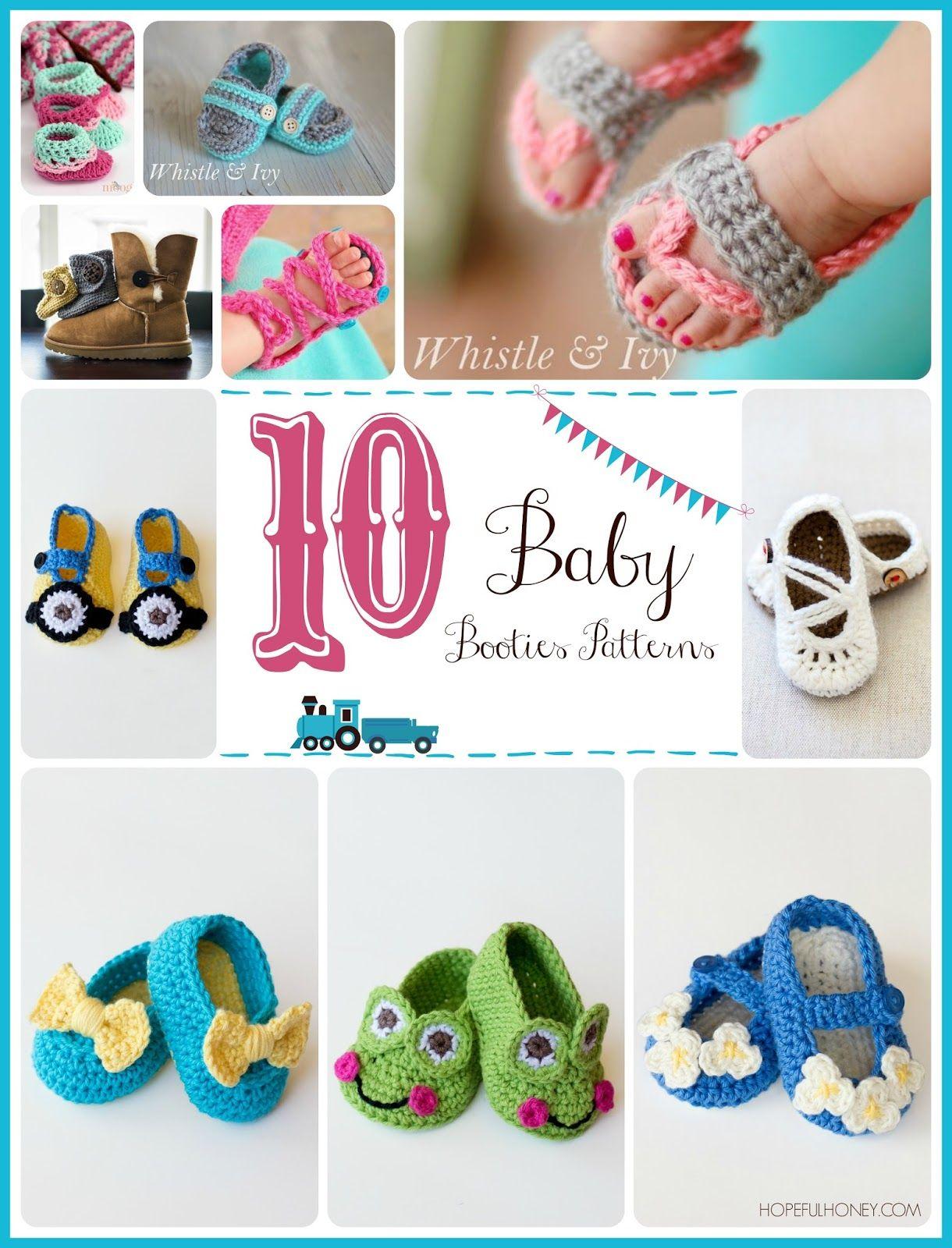10 Free Baby Bootie Crochet Patterns | crochet | Pinterest | Tejido ...