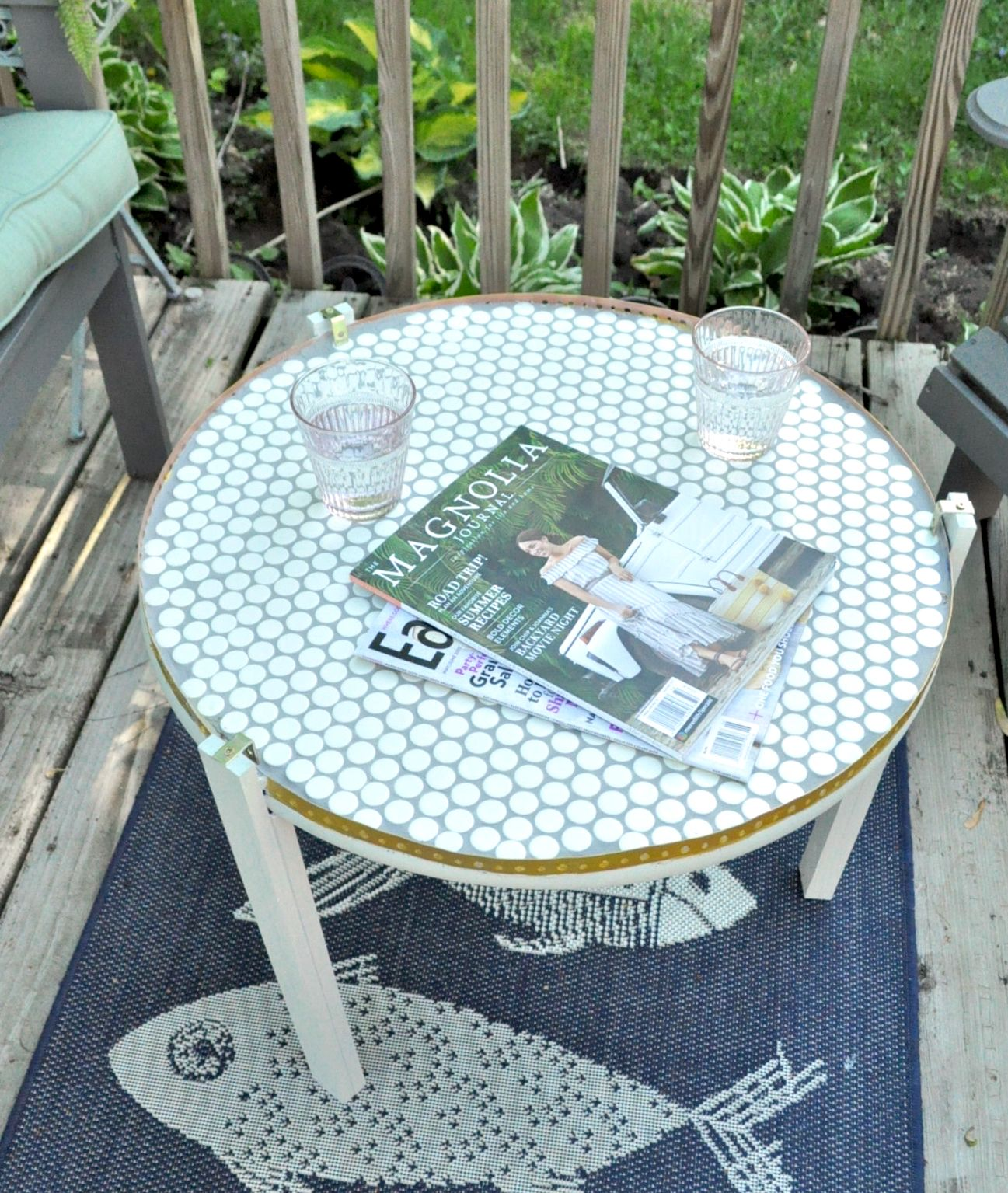 a diy penny tile table top with images  tile tables