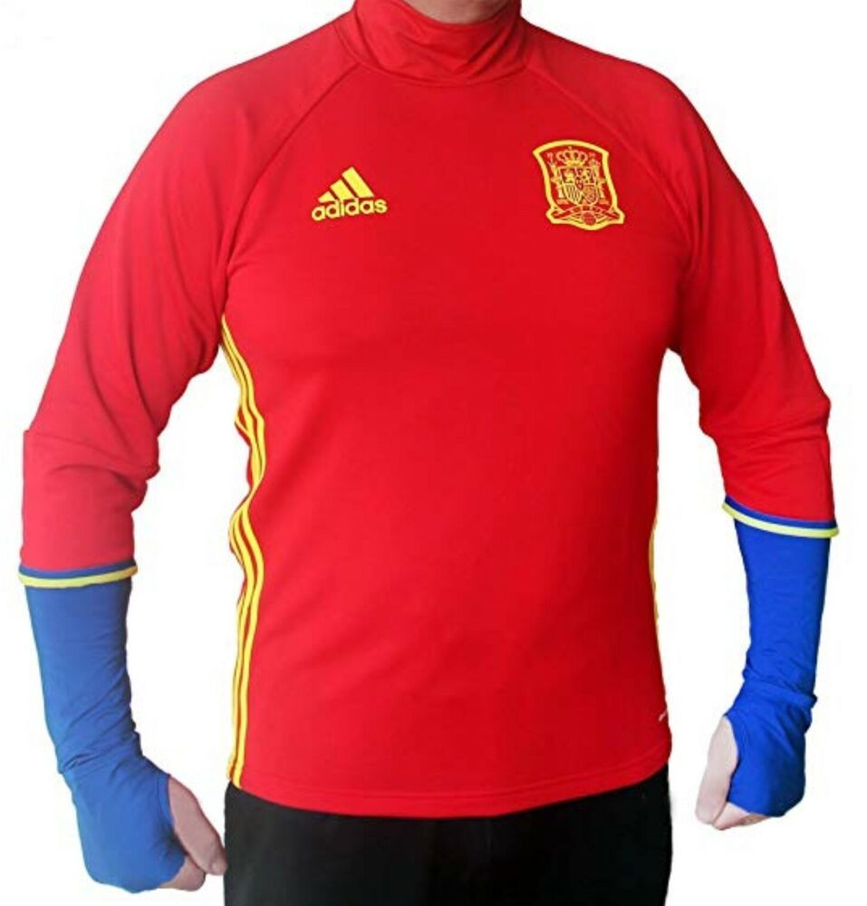 1e54c46228b Adidas Climacool FEF Spain Training Balloon Soccer Thumb Sweatshirt Top  Shirt M - Soccer Shirt