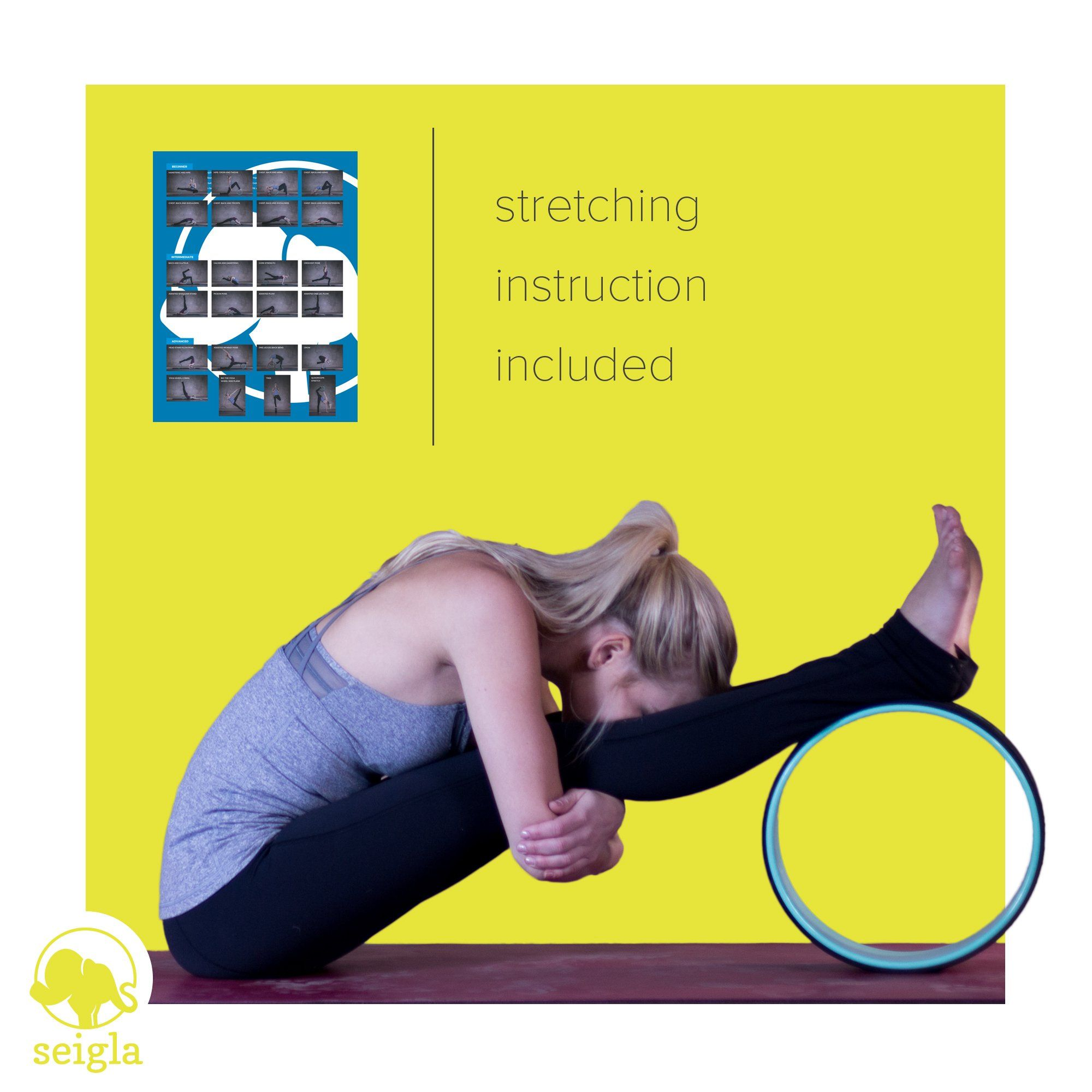 Yoga Wheel Basic 12 by Seigla Perfect Backbends Poses and