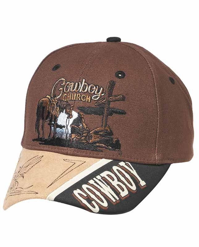 c03ccc9b1b5 Brown Cowboy Church Ball Cap #CowboyChurch #WesternStyle ...