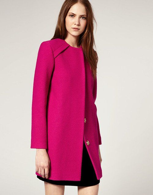 pink wool winter coat - Google Search | My Style | Pinterest | Coats