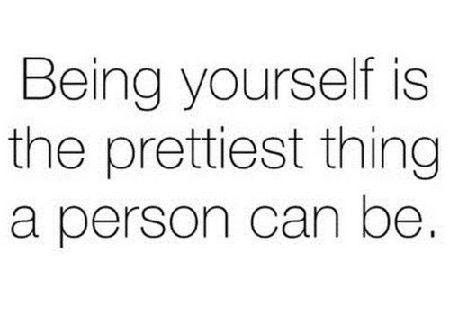 It truly is but trying to act like you someone your not