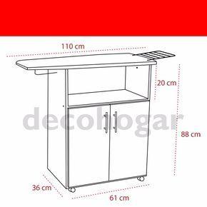 Mueble planchador melamina 2 puertas tabla planchar for Mueble para guardar tabla de planchar