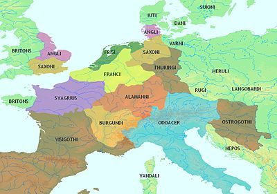 map of europe 5th century Pin on Maps