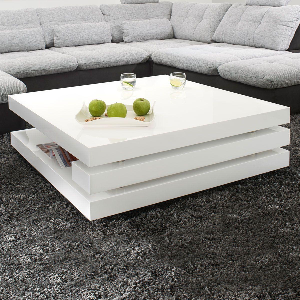 couchtisch piazza hochglanz lack wei besticht durch sein. Black Bedroom Furniture Sets. Home Design Ideas