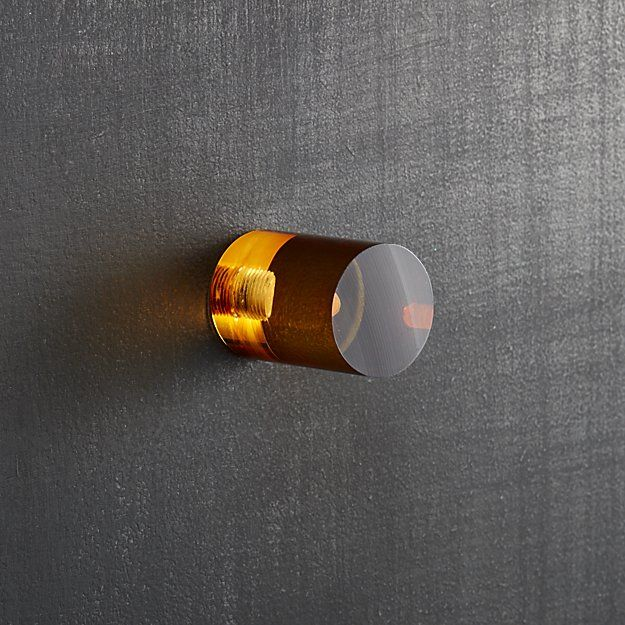 CB2 Acrylic Amber Cylinder Knob | Door knobs, Dresser and Drawers