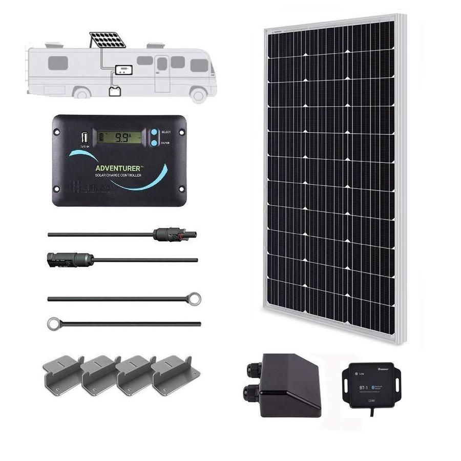 Renogy 1 Module 42 2 In X 19 6 In 100 Watt Solar Panel Lowes Com In 2020 Solar Energy Panels Solar Panel System Best Solar Panels