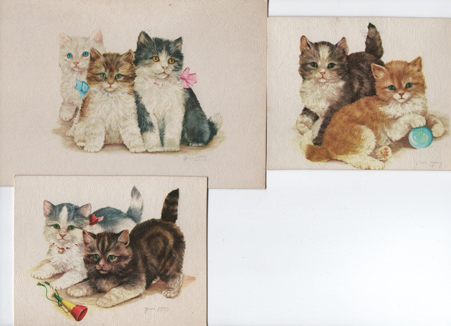 Kittens Watercolors Creative Manor Galleries 3 Lithos Of Grace