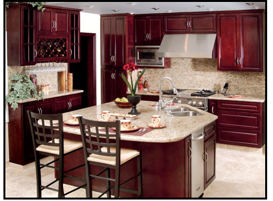 merlot cabinets - love the color of the cabinets! | Dream Home ...