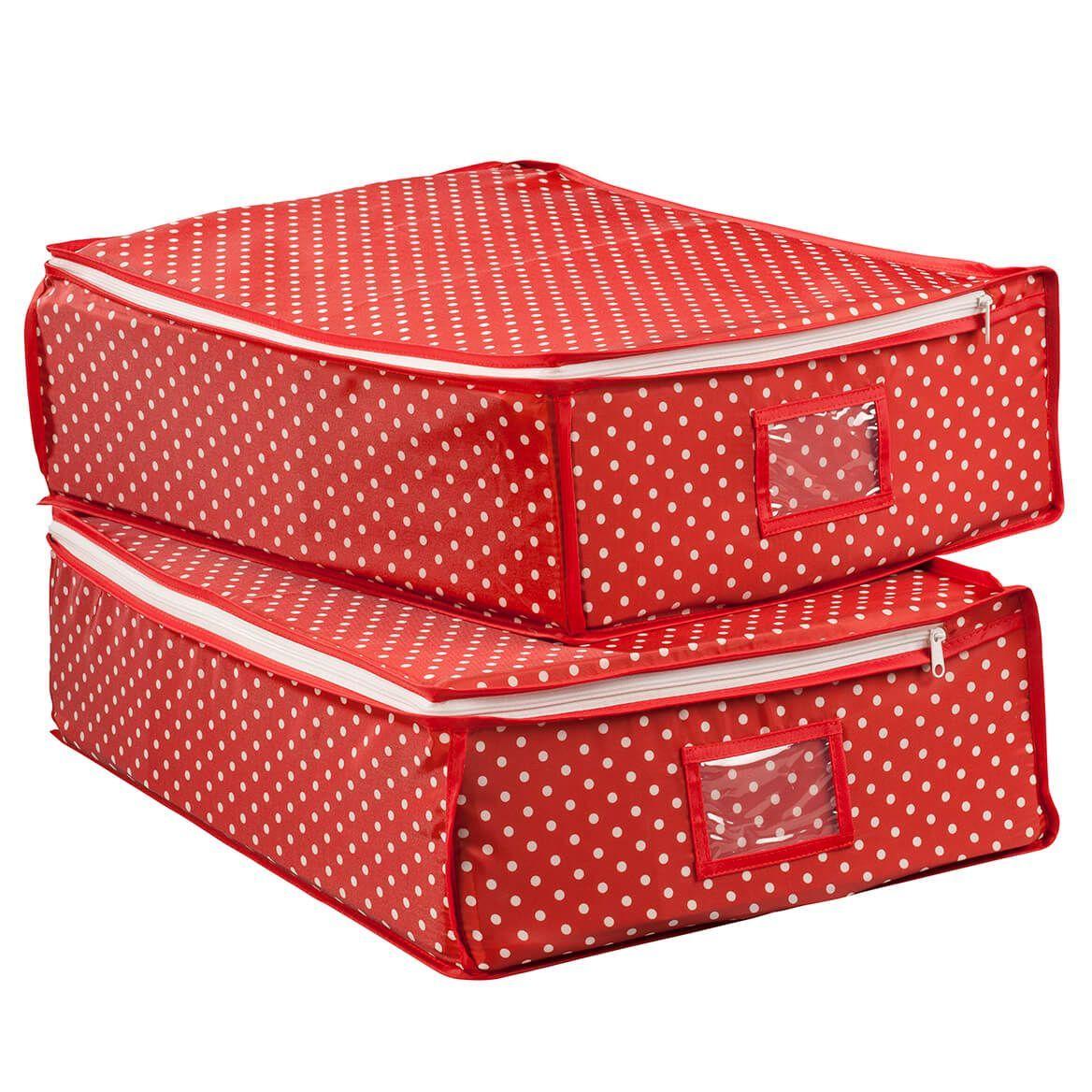 Fabric Zipper Storage Bags, 2-Pack by LivingSURE - Miles Kimball#2pack #bags #fabric #kimball #livingsure #miles #storage #zipper