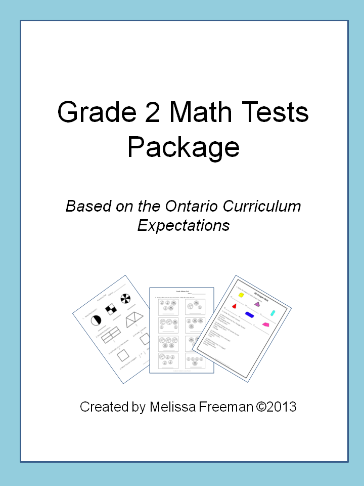 Grade 2 Math Tests Bundle (Based on Ontario Curriculum) | Pinterest ...