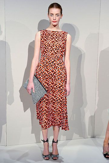 Love the silhouette and the shoulder cut.  JCrew Sp12