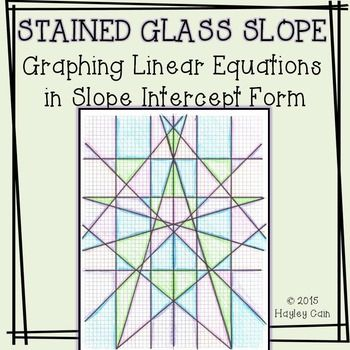 stained glass slope graphing equations in slope intercept form activitythis is a great activity that goes beyond the worksheet students will have to graph - Graphing Equations Worksheet