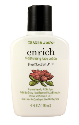 Image result for trader joe's enrich spf 15