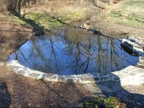 A Small Stream Stone Mortar Dam With Waterfall Wmv Pond Water Features Pondless Water Features Water Features