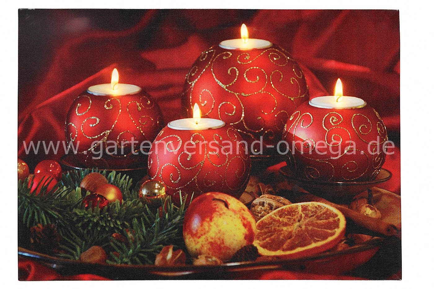 led bild motiv weihnachtskerzen weihnachtsbeleuchtung. Black Bedroom Furniture Sets. Home Design Ideas