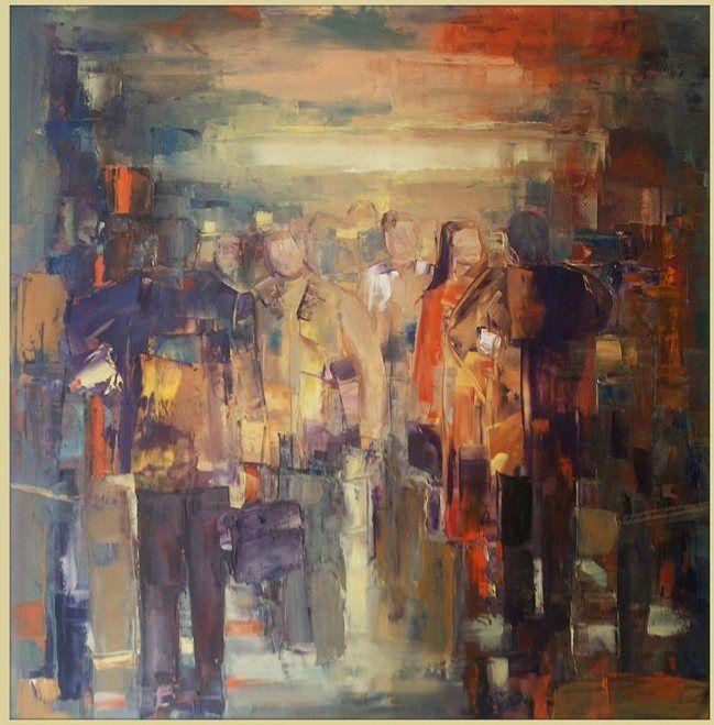 Busy street by Ana Dawani