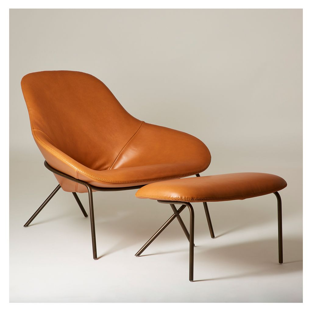 The Award Winning Cross Leg Lounge Chair And Ottoman Set Was Designed In 2015 By Magnus Long A British In Lounge Chair Chair And Ottoman Chair And Ottoman Set