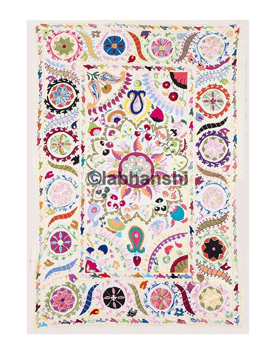 amazon fr couvre lit Indien Suzani brodé mur Suzani mur couvre lit Tapisserie Art Decor  amazon fr couvre lit