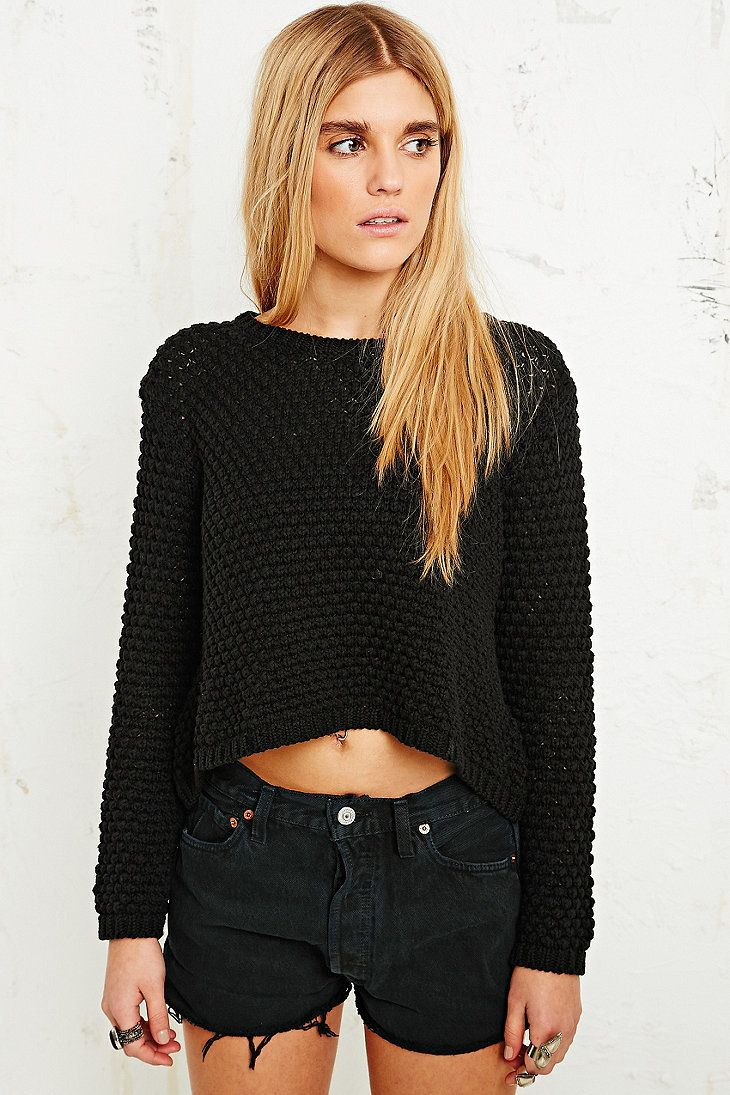 Pins & Needles Nanna Crop Jumper - Urban Outfitters on Wanelo