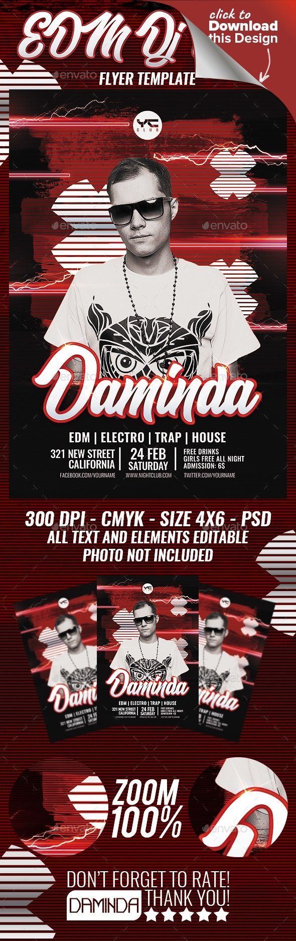 Electro Dj Poster 8 Flyer Template