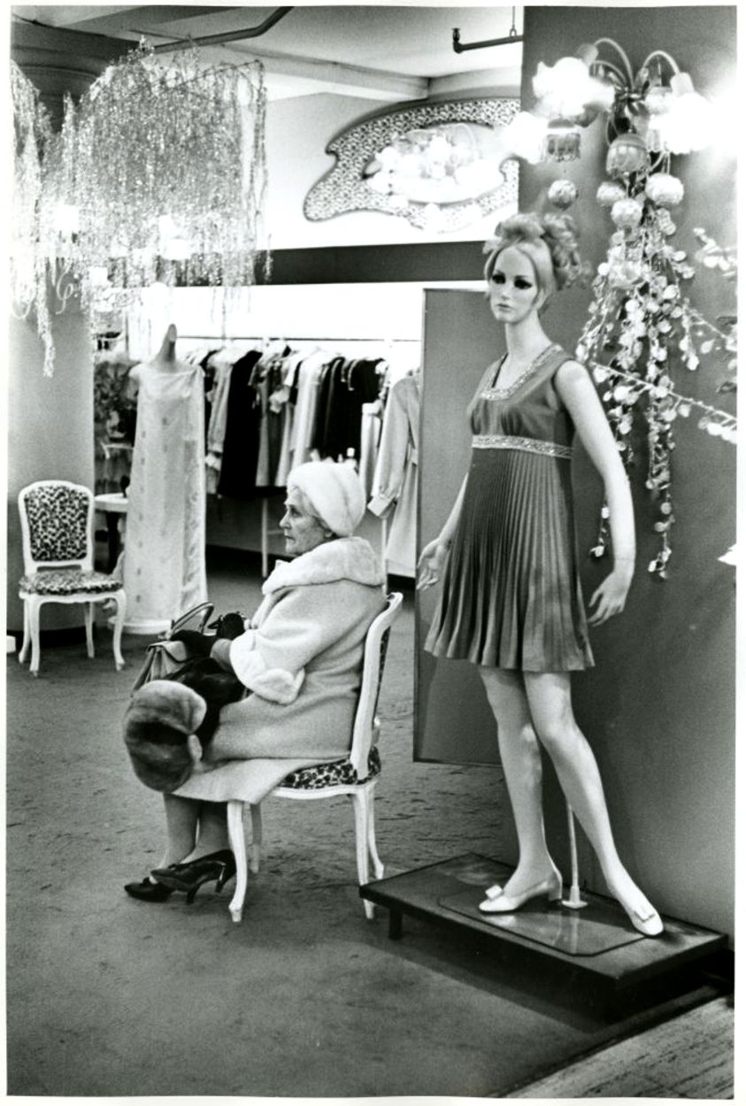 Clothing store scene photo by james jowers 1969
