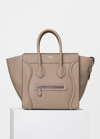 bfc90a26a Mini Luggage Handbag in Drummed Calfskin - Céline | Shoulder Swag ...