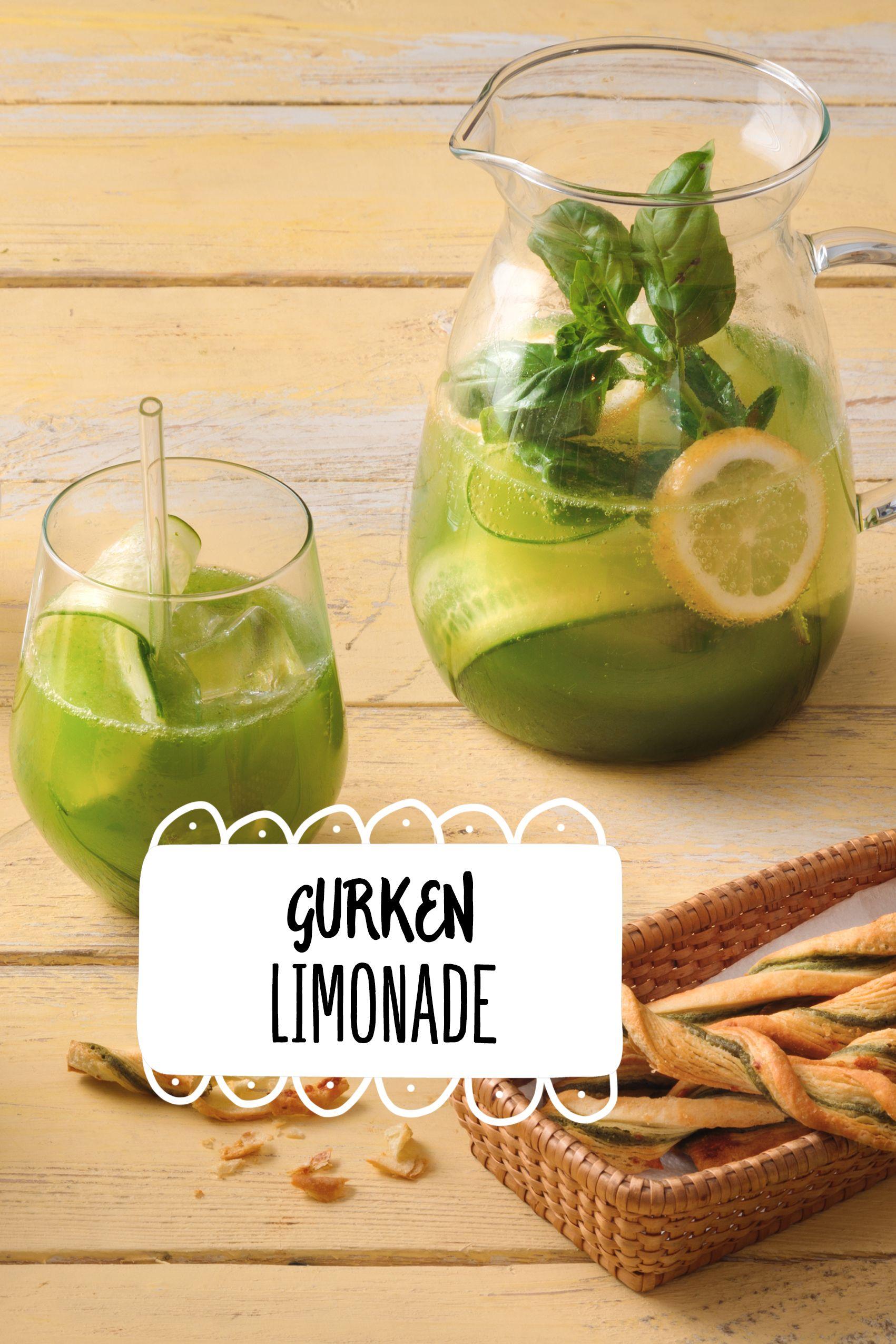 Gurken-Limonade | Rezept | Mocktails & alkoholfreie Drinks ...