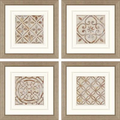 'Moroccan Tiles' by Smith - 4 Piece Picture Frame