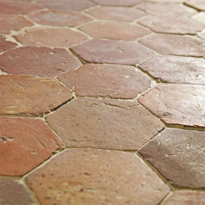 reclaimed orleans terracotta tiles antique orleans terracotta is a handmade 18th and 19th century hexagon