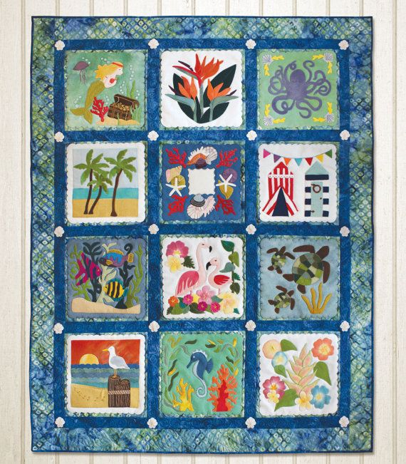 pattern tropical paradise pattern of the month wool applique