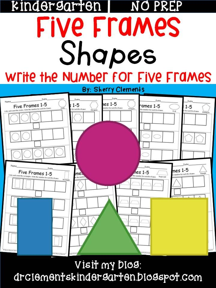 Shapes (Five Frames) | Pinterest | Kindergarten, Math and ...