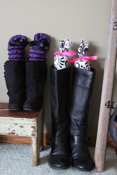 Fabric Covered Pool Noodles Keep Boots In Shape Boot Support Pretty Boots Accessory Organization