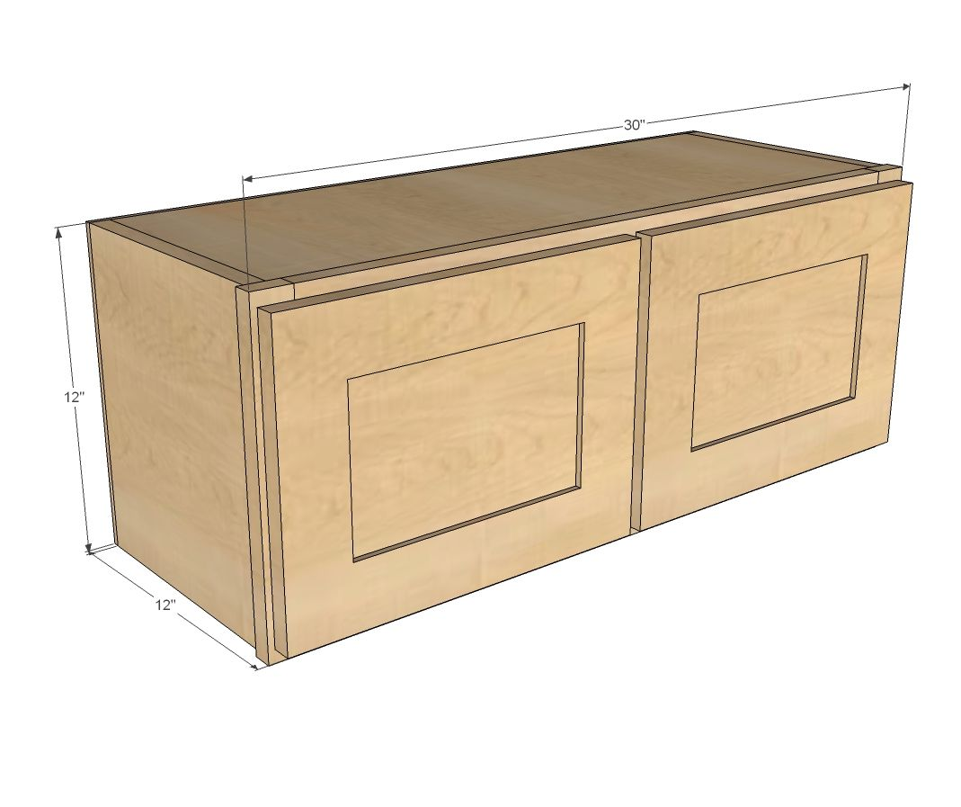 "Kitchen Wall Cabinet Plans: 30"" X 12"" Above Range Wall Cabinet"