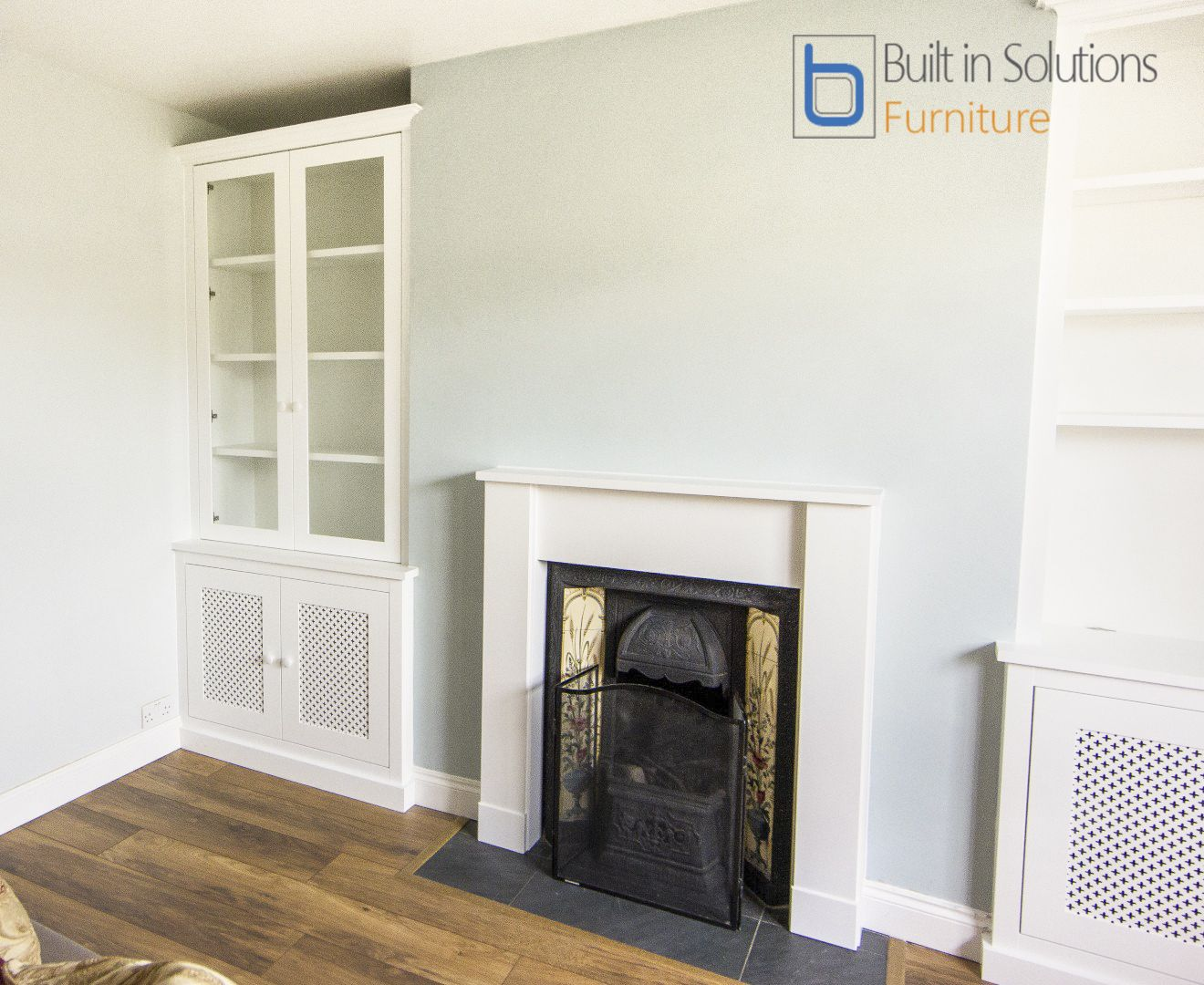 Our latest Built in Alcove units either side of the fireplace, and ...